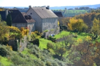 beautiful countryside dordogne massif central France